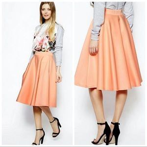 Peach ASOS Midi Skirt