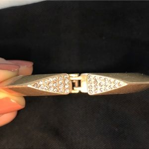 Banana Republic Hinged Gold Cuff Bracelet