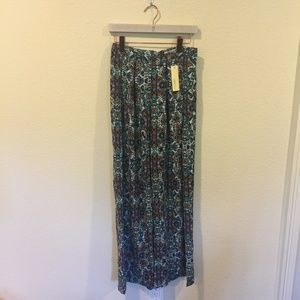 NWT Sugarlips sky multi wide leg pants