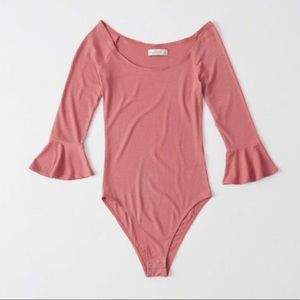 Abercrombie & Fitch Bell Sleeve Bodysuit