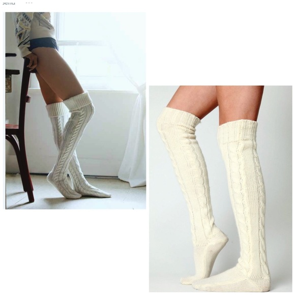 c51ddc7a72418 H&M Accessories | Nwt Cable Knit Over Knees Thigh High Socks | Poshmark