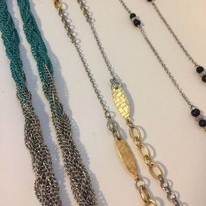 Multi long necklaces