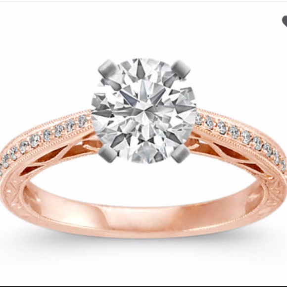 42f0ed2730a30 SALE - Shane Co Diamond Engagement Ring Rose Gold