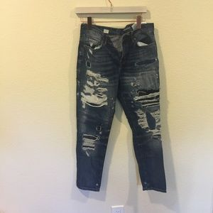online for sale affordable price purchase cheap Tommy Hilfiger distressed 'Oslo' boyfriend jeans