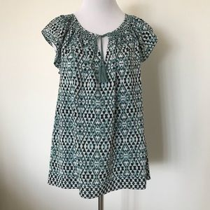 Joie Ikat Silk Top
