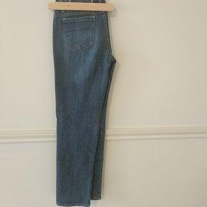 Denim - Medium wash straight leg jeans