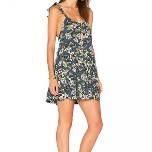 NWT Free People Floral Dress in Blue Large