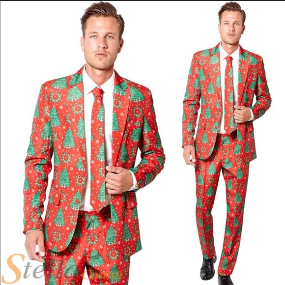 suitmeister christmas tree and wreath suit