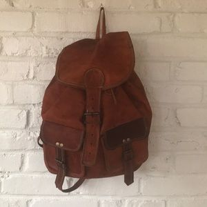 Brown Leather Backpack *Handmade*