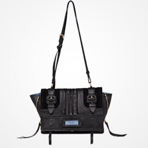 Prada Bags   Auth Nwot Etiquette Black Leather Bag   Poshmark 8e309356b5
