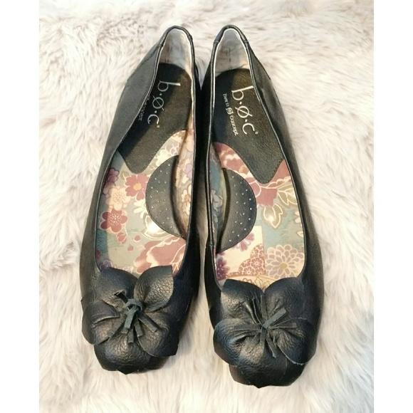 fe9d820135ec b.o.c. Shoes - B.O.C. Born Concept Leather Flower Flats