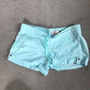 Turquoise blue shorts