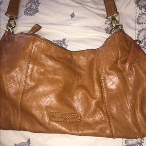BCBG cognac/tan crossbody bag