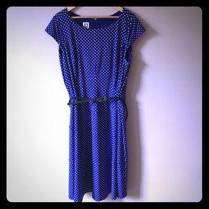 Anne Klein polkadot dress