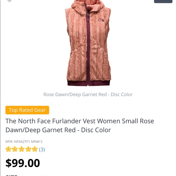 0e4eb44c26b9 TNF The North Face faux furlander vest. M 5a26db2e13302a3b18021c3d