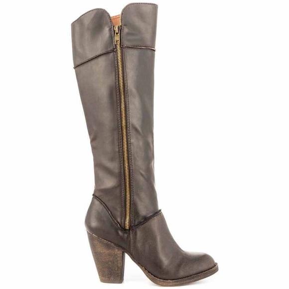 6c8718fd5d3 London Rebel Barrell Brown Knee High Boots