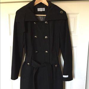 Calvin Klein Wool black Coat