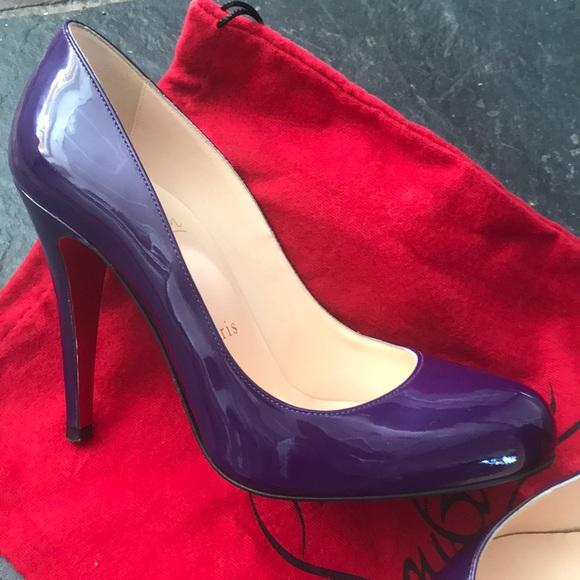 1b9b908b26f4 Christian Louboutin Shoes - Christian Louboutin patent leather Purple pump 6