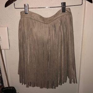 BB Dakota toffee suede skirt