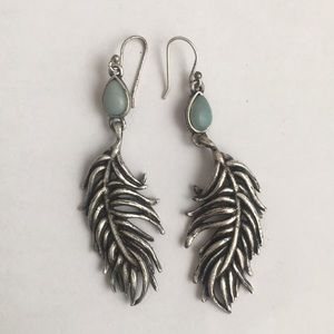 Free People feather earrings