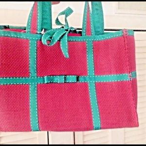 New Ralph Lauren Pocketbook Pink Green Cruise Wear