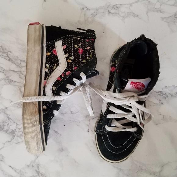 4076d04b8ae5 Vans Shoes | Girls Floral Print High Tops | Poshmark