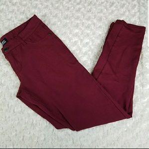 Wine Maroon Skinny Jeans Size 5 Celebrity Pink