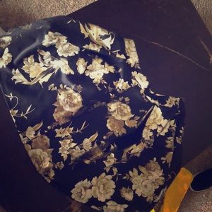 Gold floral circle skirt