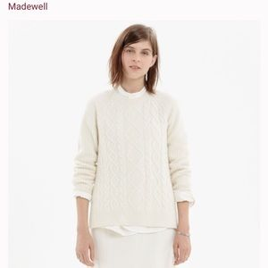 MADEWELL - cable front sweater