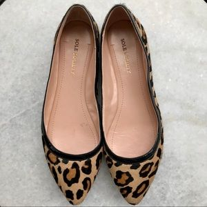 Sole Society leopard calf hair flat