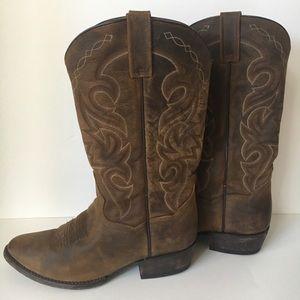 ce5308f5fbb Dan Post cowgirl 10 10.5 wide brown boots men's