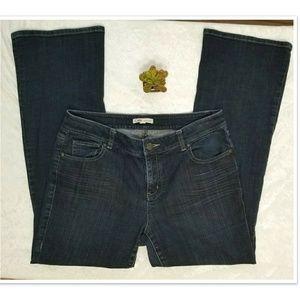 CAbi Dark Wash Boot Cut Jeans Style# 652R