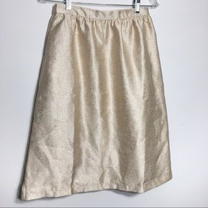 Forever 21 Champagne Textured Satin Party Skirt