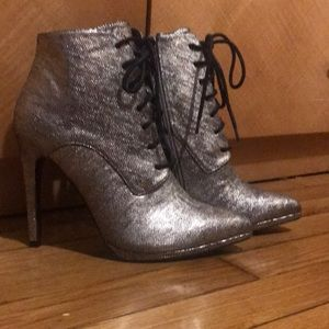 Shoes - Metallic booties