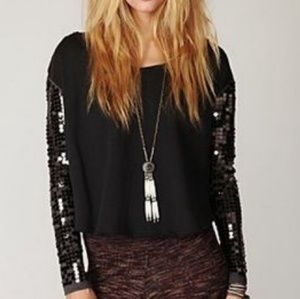 🎉4X HP🎉FREE PEOPLE SEQUIN TOP