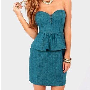 Aryn k chain maxi dress