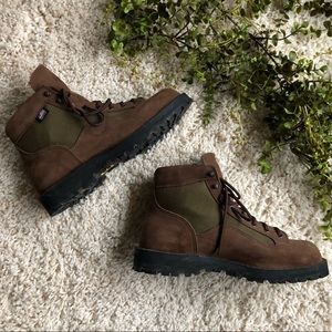 Leather Danner Light II Work Boots in Brown