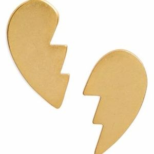 NWT MADEWELL Split Heart Stud Earrings