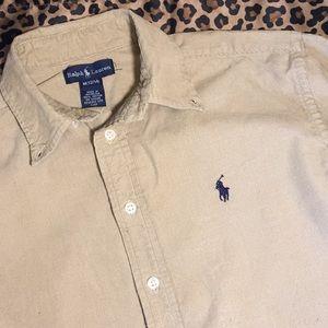6b0ba31d0 Ralph Lauren Shirts   Tops - Ralph Lauren Boys 12 14 Tan Corduroy Shirt