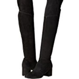 Schutz Tamara over the knee black boots NIB 10
