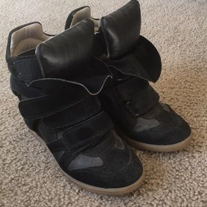 Isabel Marant black wedge sneaker size 36
