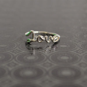 Jewelry - 925 Sterling Silver  LOVE Ring