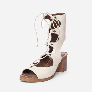 Matisse Expo Cream Lace Up Heels