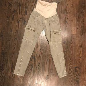 Jbrand maternity skinny cargo pants size 27