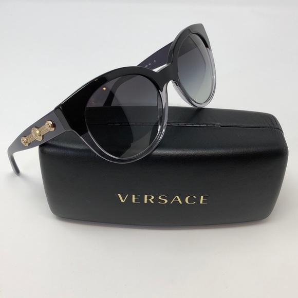 0d81a731f985 Versace Black Crystal Purple Gold Cat Eye 🕶. M 5a26f067a88e7dafe9027128