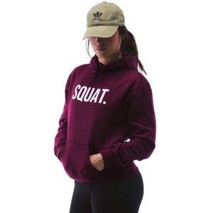 Sweaters - Burgundy Squat Hoodie