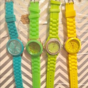 Bundle of 4 Jelly Watches.