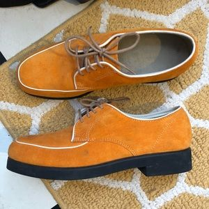 Vintage Suede Oxford Loafers