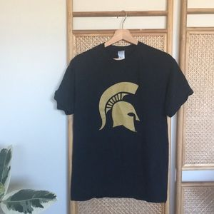 Black and Gold Michigan State Shirt