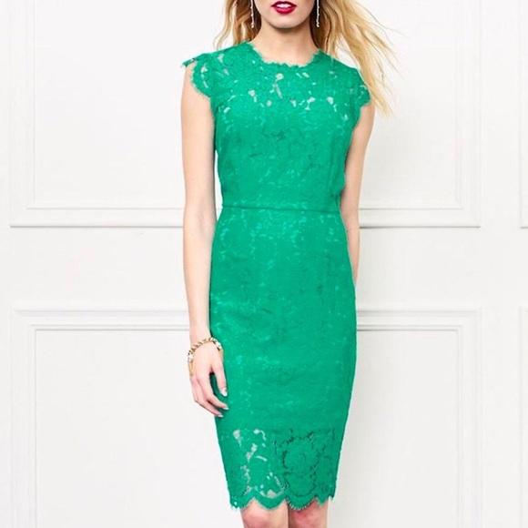 ff2a1a361b0 Rachel Zoe Suzette Green Lace Dress 👗. M 5a26f49599086aa298026554
